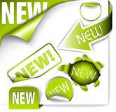 Set of green elements for new items Royalty Free Stock Images