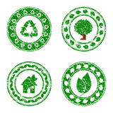 set of green environmental icons isolat Stock Image