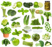 Set with green food Stock Images