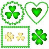 Set green of frameworks and symbols Royalty Free Stock Images