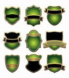 Set of green and gold labels Royalty Free Stock Image