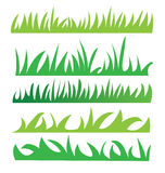 Set of green grass Stock Photography