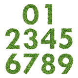 Set of Green Grass Numbers. 0-9 Royalty Free Stock Photo