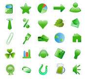 Set green icons Royalty Free Stock Images