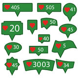 Set of Green Icons Royalty Free Stock Photography