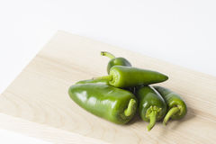 Set of green jalapeno peppers Stock Image
