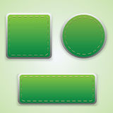Set of green labels Stock Photo
