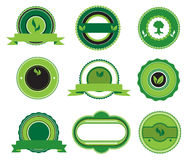 Set of green labels Royalty Free Stock Photos
