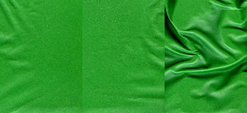 Set of green leather textures. For background Stock Photos