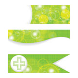 Set of green medical banners Royalty Free Stock Image