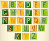 Set of green and orange uppercase  alphabet Stock Photo
