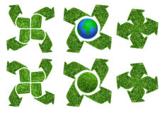 Set of green recycle arrow Royalty Free Stock Image