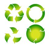 Set of green recycle icon Stock Photography