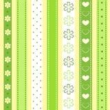 Set green ribbon. Royalty Free Stock Photo