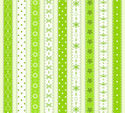 Set green ribbon. Stock Photos
