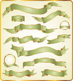 Set of green ribbons. Royalty Free Stock Photos