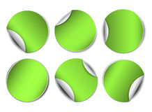 Set of green round promotional stickers Royalty Free Stock Photos