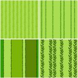 Set of green seamless patterns, vector stock illustration