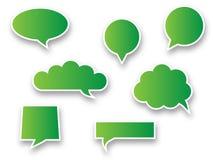 Green speech bubbles. Set of green speech bubbles royalty free illustration