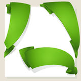 Set of green stickers Royalty Free Stock Photography