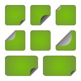 Set of green stickers or labels Royalty Free Stock Photo