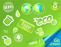 Set of green symbols. Royalty Free Stock Image