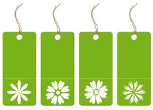 Set of green tags Stock Photos