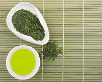 Set of green tea for tea ceremony Stock Photography