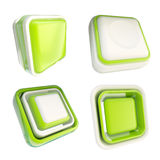 Set of green template buttons isolated Royalty Free Stock Photos