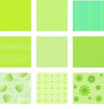 Set of green textures for background Royalty Free Stock Photos