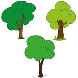 Set of green tree Stock Photos