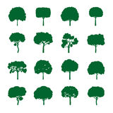 Set of Green Trees. Vector Illustration. Royalty Free Stock Images