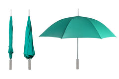 Set of green umbrellas Royalty Free Stock Photo