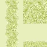 Set of green underwater plants seamless pattern Royalty Free Stock Photo