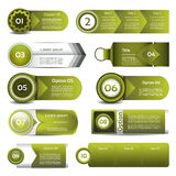 Set of green vector progress, version, step icons Royalty Free Stock Photo