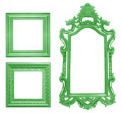 Set of green vintage frame isolated on white Stock Image