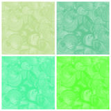 Set of green watercolor abstract hand painted vector illustration