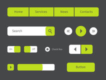Set of green web buttons Stock Photos
