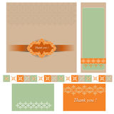 Set of greeting card Stock Image