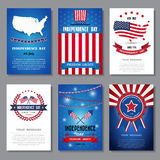 Set of greeting card ,Independent day background. Stock Photos