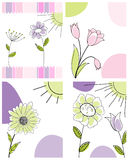 Set of greeting cards Royalty Free Stock Photography
