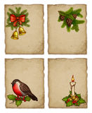 Set of greeting cards. Set of christmas greeting cards Royalty Free Stock Image