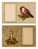 Set of greeting cards. Set of christmas greeting cards Stock Images