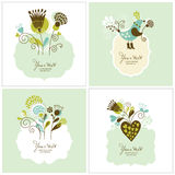 Set of greeting cards. With frame for your text Royalty Free Stock Photography