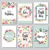 Set of greeting cards Stock Image