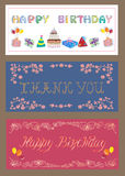 Set of greeting cards. Decorative greeting cards for any occasion vector illustration