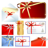 Set of greeting cards & envelopes Royalty Free Stock Image