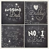 Set of greeting cards for Fathers Day. Royalty Free Stock Photo