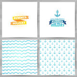 Set of greeting cards, invitations, template Royalty Free Stock Photos
