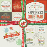 Set of greeting cards, labels, stickers, banners a Stock Photos